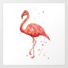 Flamingo, Pink Flamingo,… Art Print