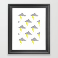 Cloudy Without You Framed Art Print