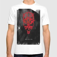 The Phantom Menace Mens Fitted Tee White SMALL