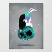 Girl and Skull Canvas Print