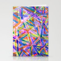 Triangle color splash Stationery Cards