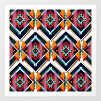 Hexagonic Pattern Art Print