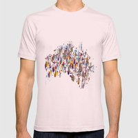 Australia  Mens Fitted Tee Light Pink SMALL