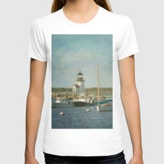 Welcome to Nantucket Womens Fitted Tee White SMALL