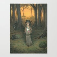 Baby in the Wood Canvas Print