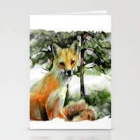 P.E.I. Red Fox Stationery Cards