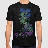 Thrillho Mens Fitted Tee Tri-Black SMALL