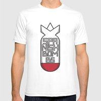 SPANISH BOMBS!  Mens Fitted Tee White SMALL