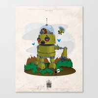 Monster robot toy Canvas Print
