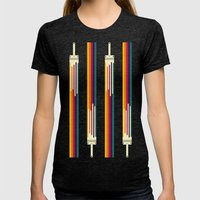 Color Me Happy Womens Fitted Tee Tri-Black SMALL