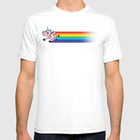 How Rainbows Are Made Mens Fitted Tee White SMALL