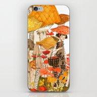 iPhone & iPod Skin featuring The Mushroom Gatherers by Abigail Halpin