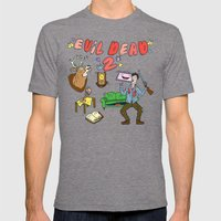 ♥ EVIL DEAD 2 ♥ Mens Fitted Tee Tri-Grey SMALL