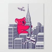 Koala Kong Canvas Print