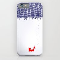 fox iPhone & iPod Cases featuring Alone in the forest by Robert Farkas