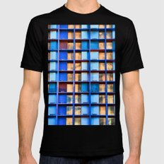 Block Living SMALL Mens Fitted Tee Black