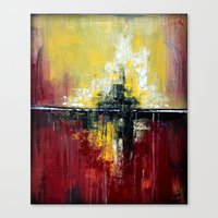 Shanghai - Textured abstract painting Canvas Print