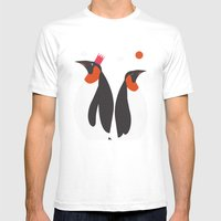 Emperor Penguins Mens Fitted Tee White SMALL