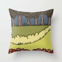 Flowers to Grass to Trees Throw Pillow