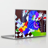 alice in wonderland Laptop & iPad Skins featuring Wonderland  by Zero Two Thirteen