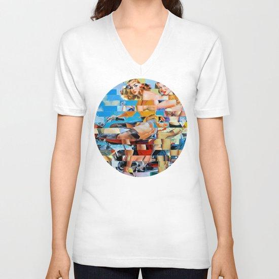 Glitch Pin-Up: Zelda & Zoe V-neck T-shirt