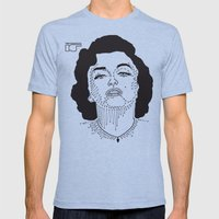 Marilyn Monroe Mens Fitted Tee Tri-Blue SMALL