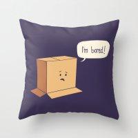 Card-Bored Throw Pillow