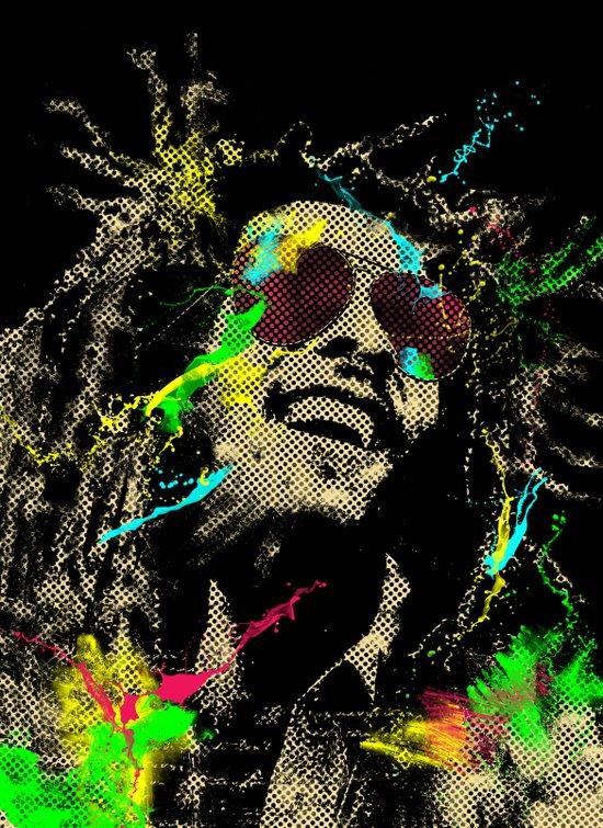 Under the reggae mode Art Print