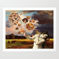 Putti Attack Art Print