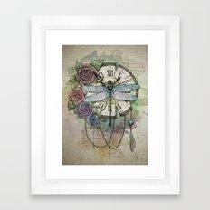 Time flies Framed Art Print