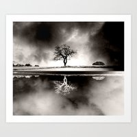 SOLITARY REFLECTION Art Print