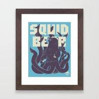 Squid-Bear Framed Art Print