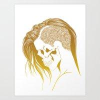 Skull Girls 2 - Royal Gold Art Print
