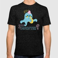 So... I Am A Monster? Mens Fitted Tee Tri-Black SMALL