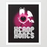 ♥ HEADPHONES Art Print