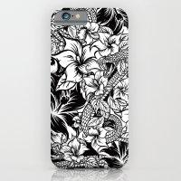 Snaky Fleur, Black 'n White iPhone 6 Slim Case