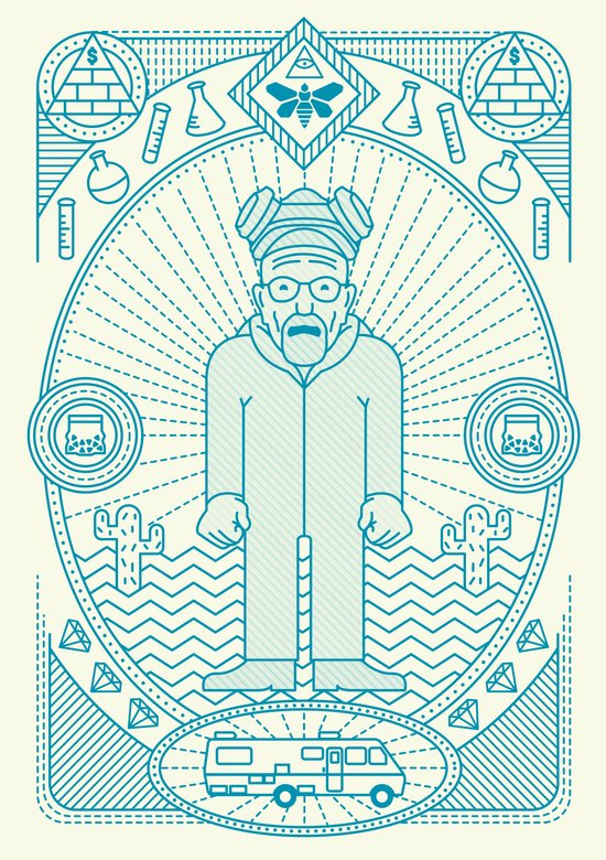 Crystal Blue Jam  Art Print