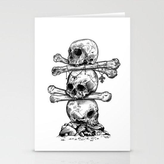 Skull Totem Stationery Card