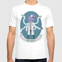 Doctopus! Mens Fitted Tee White SMALL