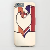 iPhone & iPod Case featuring One Direction Inspired UK/Irish Love Heart by xjen94