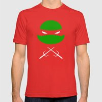 TMNT Raph Poster Mens Fitted Tee Red SMALL
