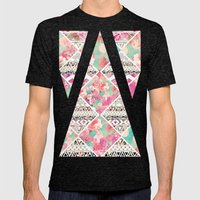Aztec Floral  Diamond Mens Fitted Tee Tri-Black SMALL