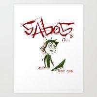 Sabos Art Print