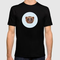 Wolverin (e) portrait SMALL Mens Fitted Tee Black