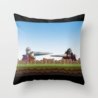 Joust It Throw Pillow