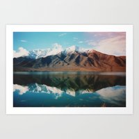 New Zealand Glacier Landscape Art Print