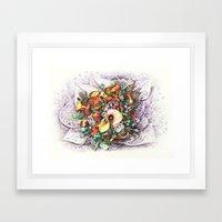 Autumn Zentangle Bouquet Framed Art Print