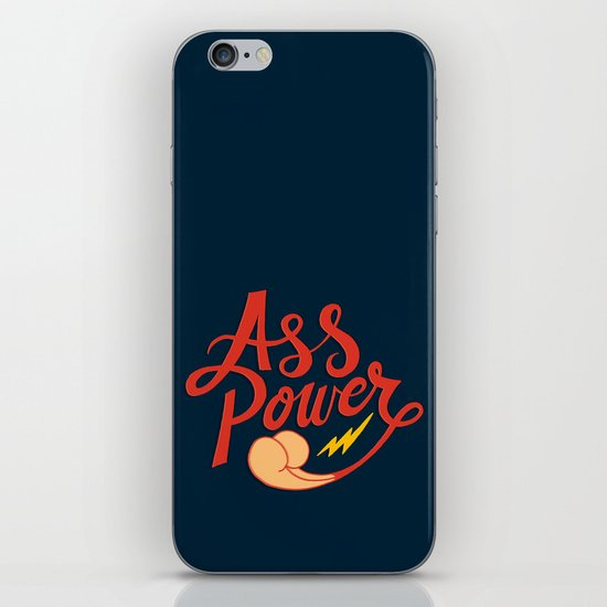 Ass Power iPhone & iPod Skin