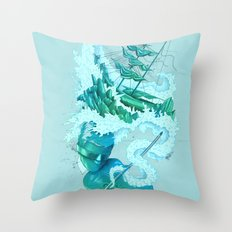 Shipwreck Sonata Throw Pillow