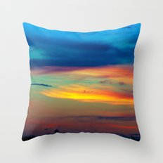 Sunset in Caleidoscope Throw Pillow